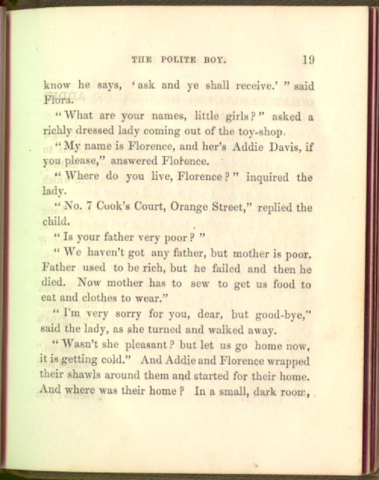 The Polite Boy  [Machine readable transcription] Michigan