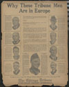 Chicago Tribune : why these Tribune men are in Europe
