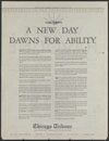 Chicago Tribune : a new day dawns for ability