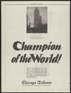 Thumbnail image of Chicago Tribune : champion of the world