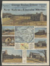 Pictorial map showing principal structures of the restored village of New Salem