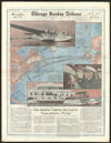 Thumbnail image of Can America capture the lead in trans-Atlantic flying? : map of the Atlantic Ocean