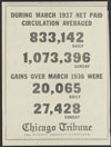 Thumbnail image of Chicago Tribune : during March 1937 net paid circulation averaged 833,142 daily