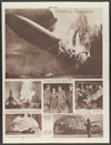 German air liner Hindenburg crashes in flames