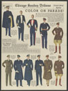 Thumbnail image of Olive drab service overcoat of Army officer