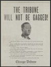 Thumbnail image of Chicago Tribune : the Tribune will not be gagged