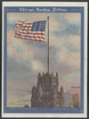 Tribune Tower and the flag