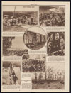 Thumbnail image of The band blared, and Company E, 336th infantry, marched down a small street in Montpont, Dordogne