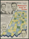 Dillinger's orgy of crime : Indiana map