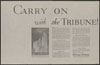 Thumbnail image of Chicago Tribune : carry on with the Tribune
