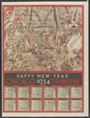 Chicago Tribune : Happy New Year Chicago Tribune 1934