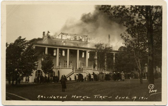 New Arlington Hotel Fire Petoskey Michigan Part 1