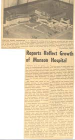 Reports Reflect Growth of Munson Hospital