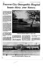 Traverse City Osteopathic Hospital Boasts Thirty Year History
