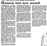 Munson Sets New Record