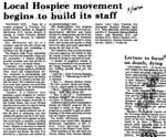 Local Hospice Movement Begins to Build its