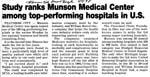 Study Ranks Munson Medical Center Among Top Performing Hospitals in U.S.