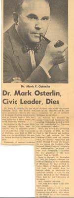 Dr. Mark Osterlin, Civic Leader, Dies