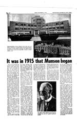 It Was in 1915 That Munson Began