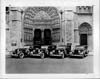 1934 Packard sedan limousines parked in front of Riverside Church, New York