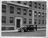 1934 Packard ambulance, parked in front of Knickerbocker Hospital