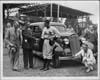 1935 Packard sedan being presented to Guy Sturdy, Baltimore Orioles