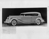 1936 Packard phaeton, seven-eights left side view, top raised