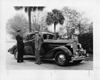 1936 Packard coupe, fire chief receiving keys