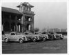 1937 Packard business coupes, lined up in front of Belle Isle Casino