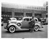 1937 Packard touring sedan and owner Col. Roscoe Turner