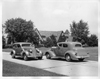 1937 Packards on passing one another at Packard Proving Grounds