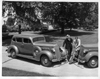 1937 Packards parked by the Lodge at Packard Proving Grounds