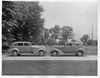 1937 Packards face to face at Packard Proving Grounds