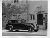 1937 Packard touring sedan parked on driveway of Grosse Pointe, Mich. residence