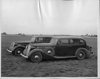 1937 Packards parked on grass at Packard Proving Grounds