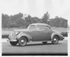 1938 Packard business coupe, seven-eights left side view