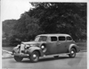 1938 Packard touring sedan, five-sixth left side view, parked on Belle Isle