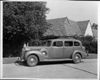 1938 Packard touring sedan, left side view, at Packard Proving Grounds