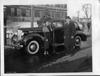 1938 Packard touring sedan with Hazel B. Cooper, winner in Packard contest
