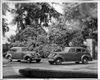 1938 Packard touring sedans at entrance to Packard Proving Grounds