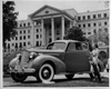 1939 Packard club coupe in front of Greenbrier resort