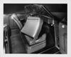 1947 Packard convertible, view of interior from right side, front passenger seat folded forward