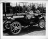 1908 Packard runabout on Hollywood movie set with Polly Moran and Anita Page
