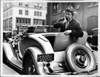 1932 Packard coupe roadster with owner Ed Wynn in the rumble seat
