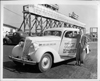 1936 Packard touring sedan and race car driver Wilbur Shaw at Indianapolis Motor Speedway, Memorial Day, 1936