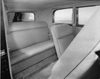 1932 Packard prototype coupe, view of rear interior through passenger door