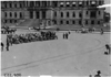 View of reception cars at start of 1909 Glidden Tour in front of the Wayne County building, Detroit, Mich.