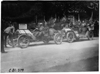 Two participating cars ready for the start of the 1909 Glidden Tour automobile parade in Detroit