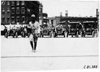 Regal car and escort lined up, 1909 Glidden Tour, Detroit, Mich.