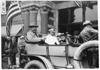 Charles Glidden waiting for start of 1909 Glidden Tour, Detroit, Mich.